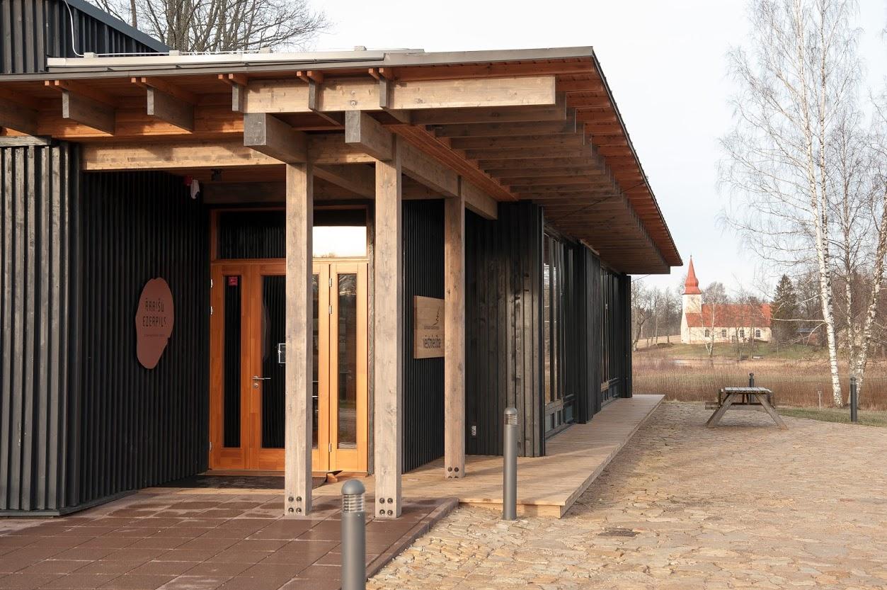"""Āraišu Ezerpils arheoloģiskā parka apmeklētāju centram 2. vieta """"Gada labākā būve Latvijā"""""""