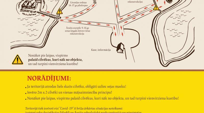 Āraišu ezerpils Arheoloģiskais parks ārkārtējās situācijas laikāturpinasavu darbību!